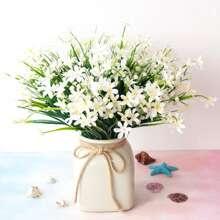 1 haz flor artificial con 5 piezas ramas sin florero