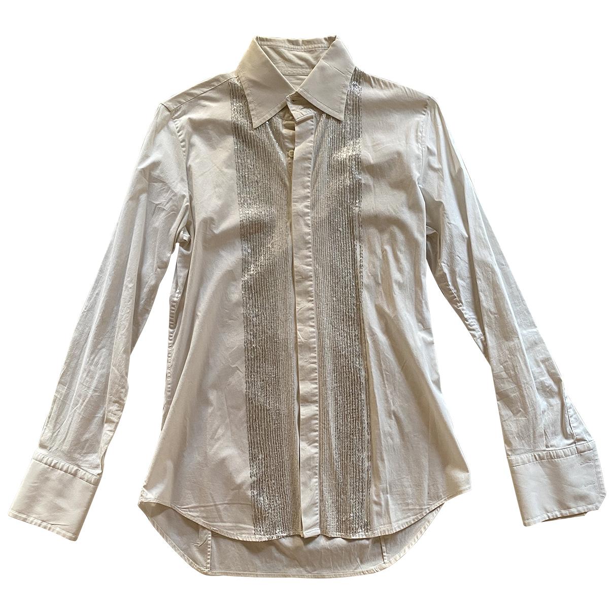 Dsquared2 \N Ecru Cotton Shirts for Men S International