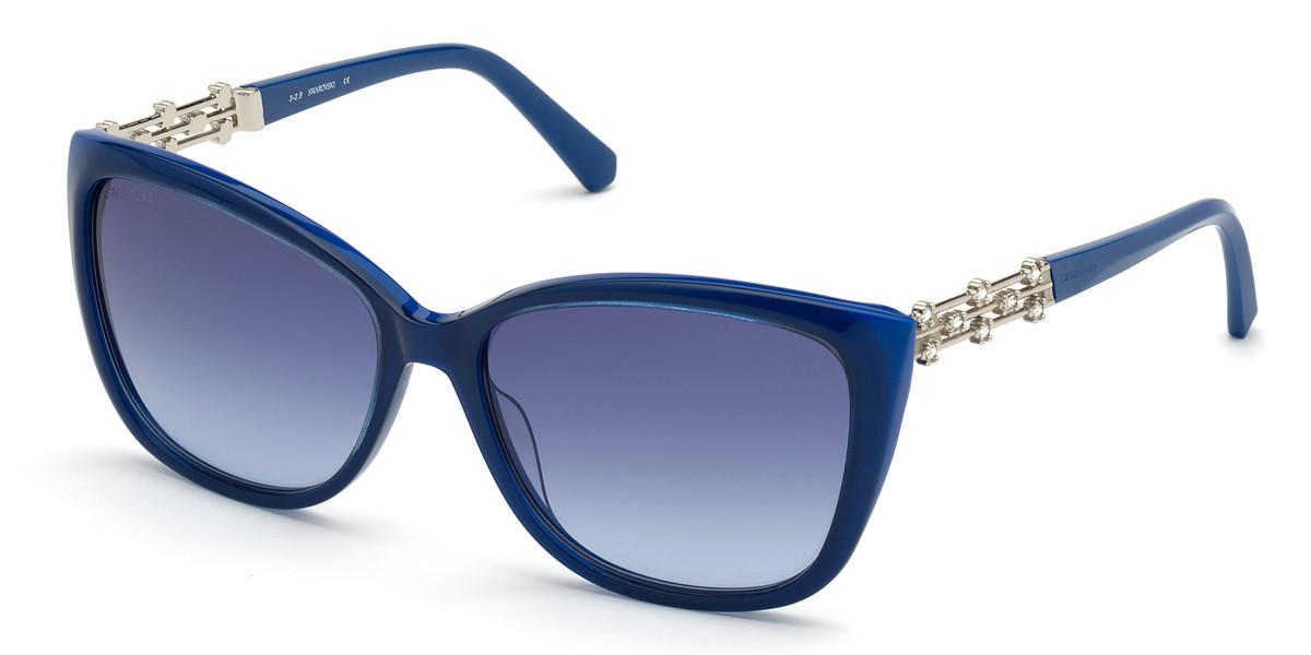 Swarovski SK0291 90W Women's Sunglasses Blue Size 57