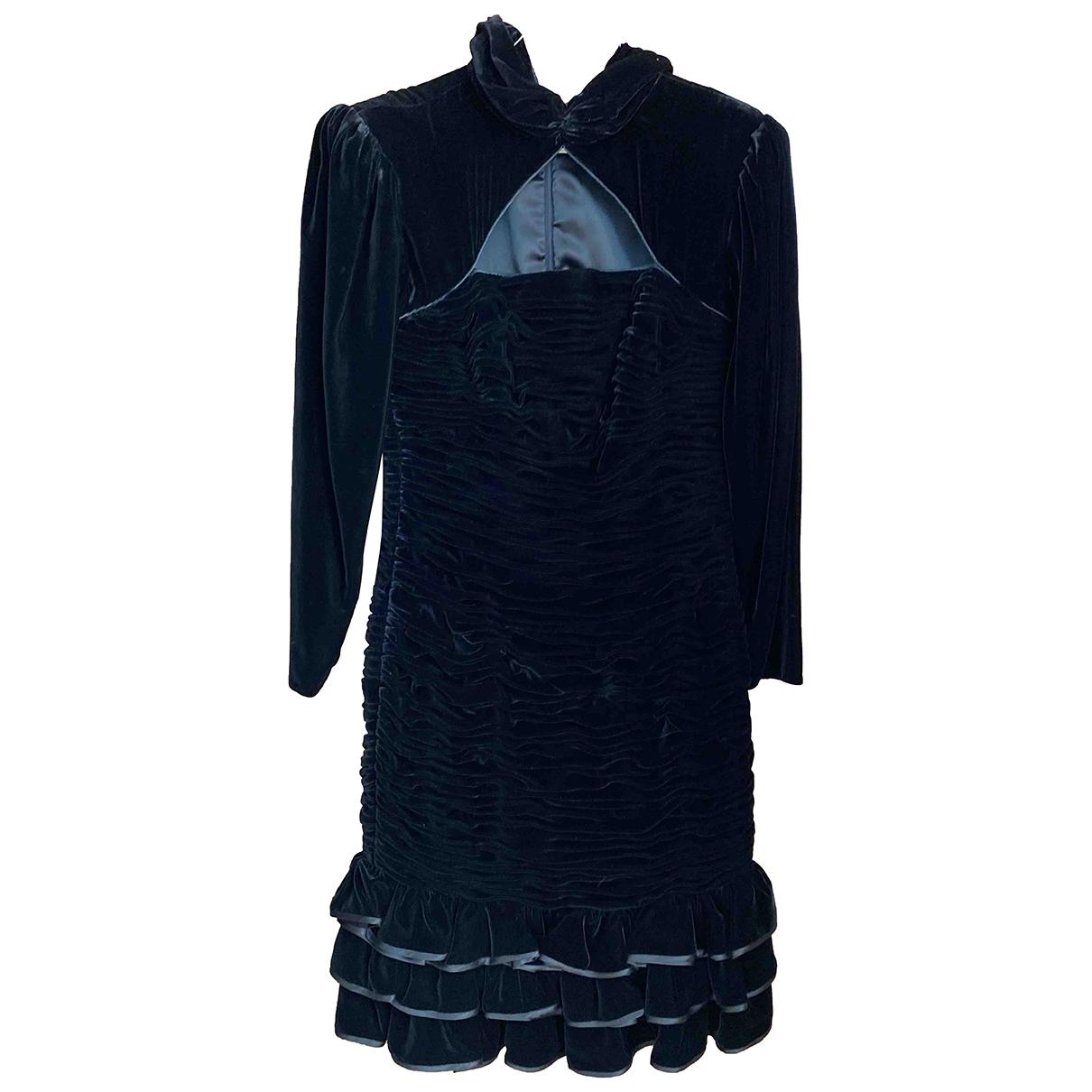 Ungaro Parallele \N Navy Velvet dress for Women 12 UK