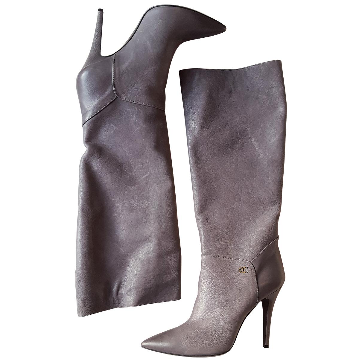 Just Cavalli \N Stiefel in  Grau Leder