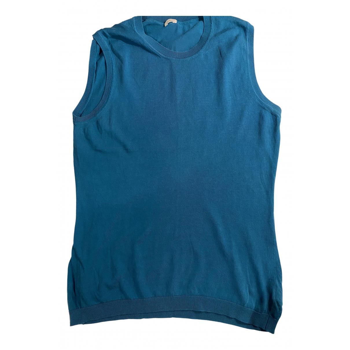 Malo - Top   pour femme en coton - bleu