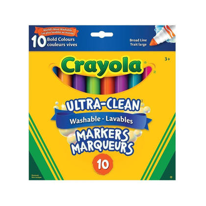 Crayola ultra-clean washable markers - couleurs assorties - bright colours (317263)