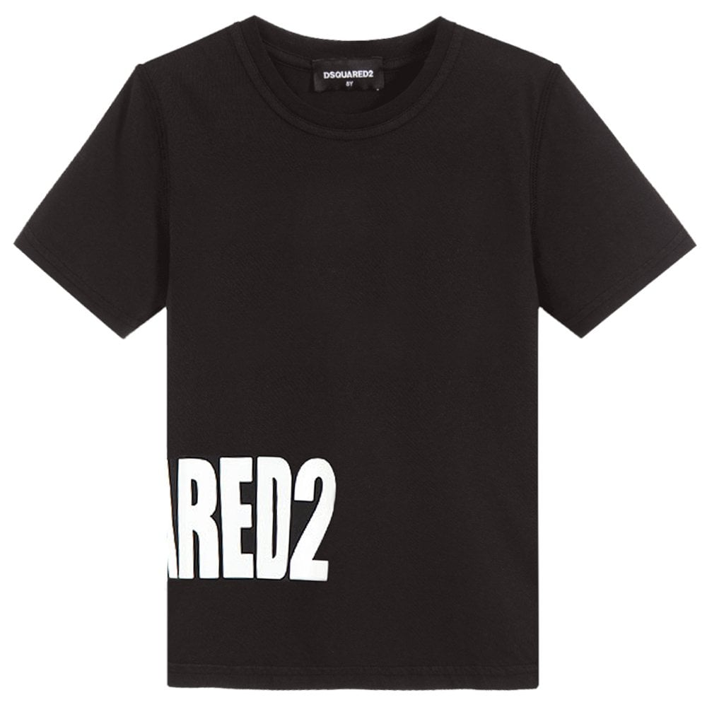 Dsquared2 Kids Side Logo T-Shirt Colour: BLACK, Size: 6 YEARS