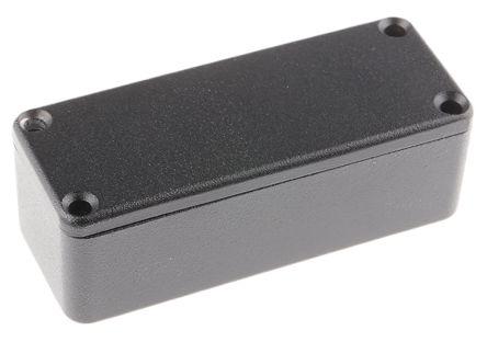 RS PRO Black Die Cast Aluminium Enclosure, Shielded, 89.1 x 35 x 30.3mm