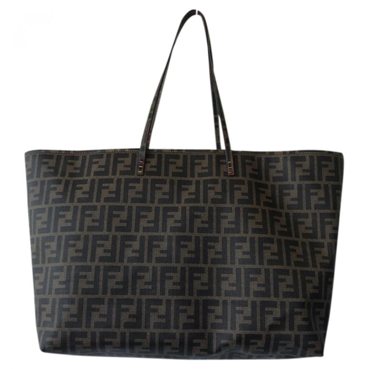 Fendi - Sac a main Roll Bag  pour femme en toile - marron