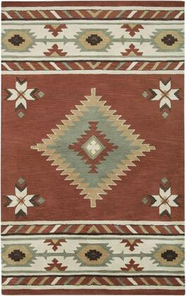 SOWSU182200560810 Southwest SU1822-8' x 10' Hand-Tufted 100% Wool Rug in Navajo Red  Rectangle