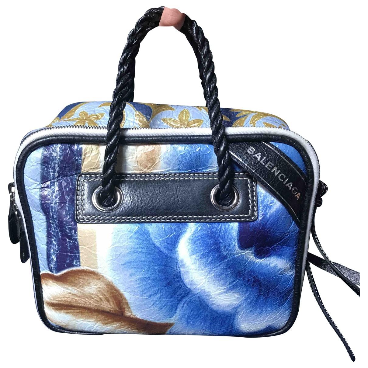 Balenciaga Blanket Blue Leather handbag for Women \N