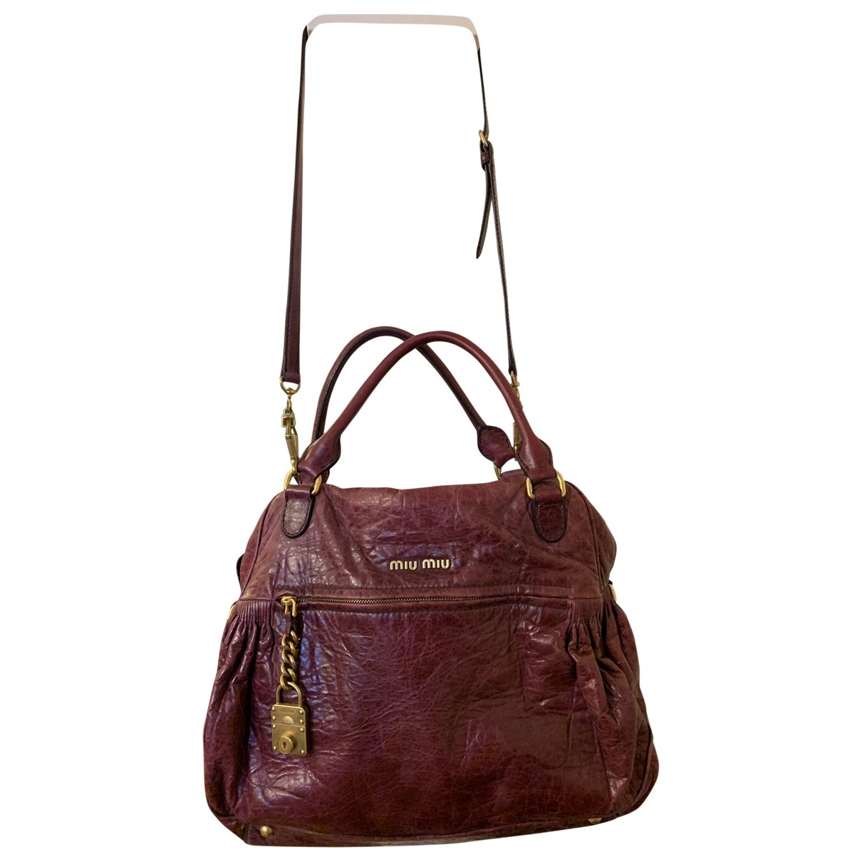 Miu Miu \N Purple Leather handbag for Women \N