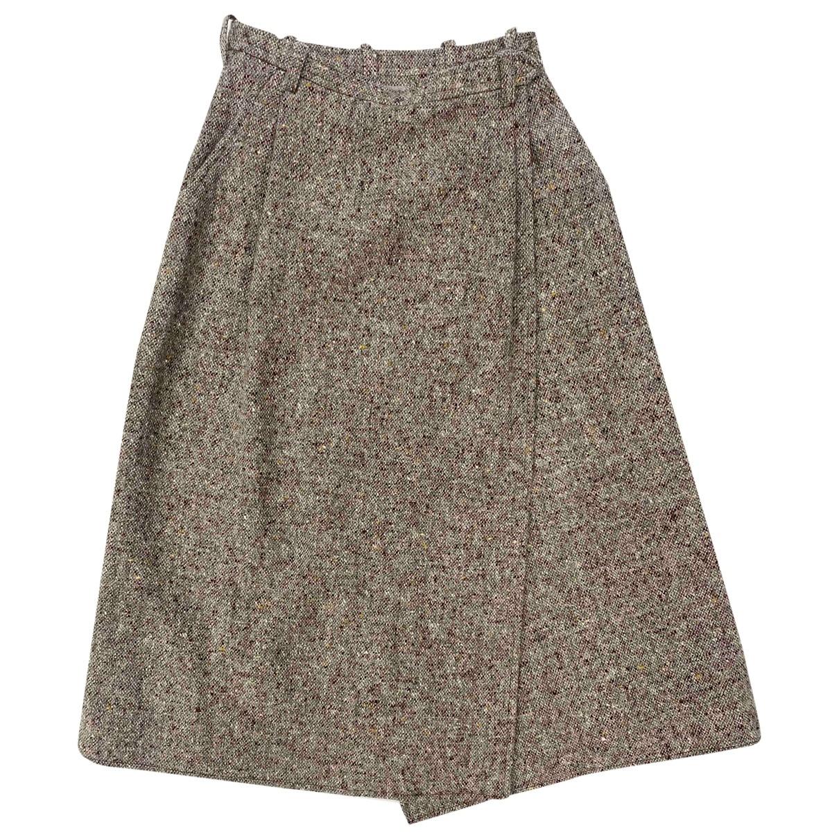 Yves Saint Laurent - Jupe   pour femme en tweed - marron