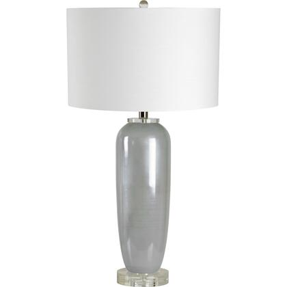 Carlotta Collection LPT1028 Table Lamp with Glass Body Material in Frosted Light Blue