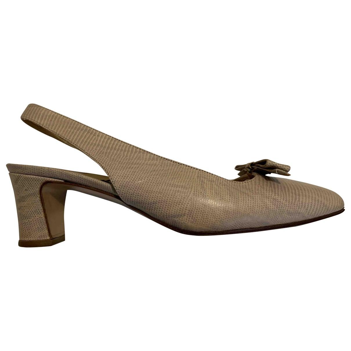 Rena Lange \N Leather Heels for Women 36 EU