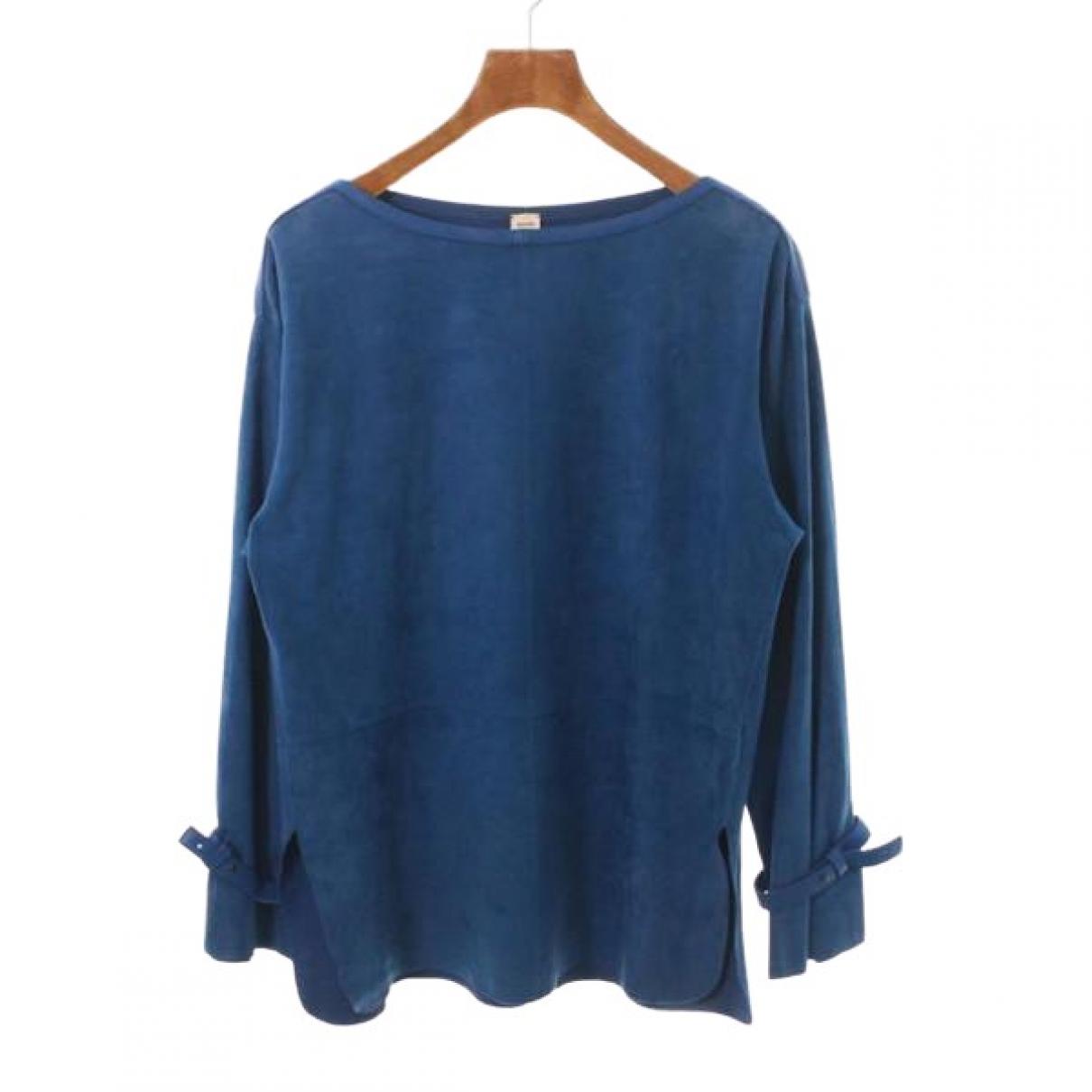 Hermes \N Top in  Blau Leder