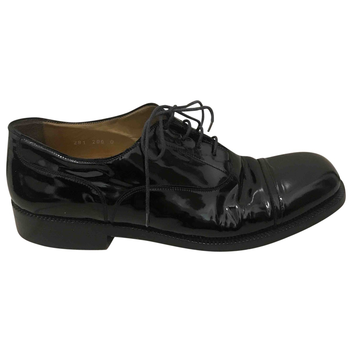 Giorgio Armani \N Black Patent leather Lace ups for Men 10 US