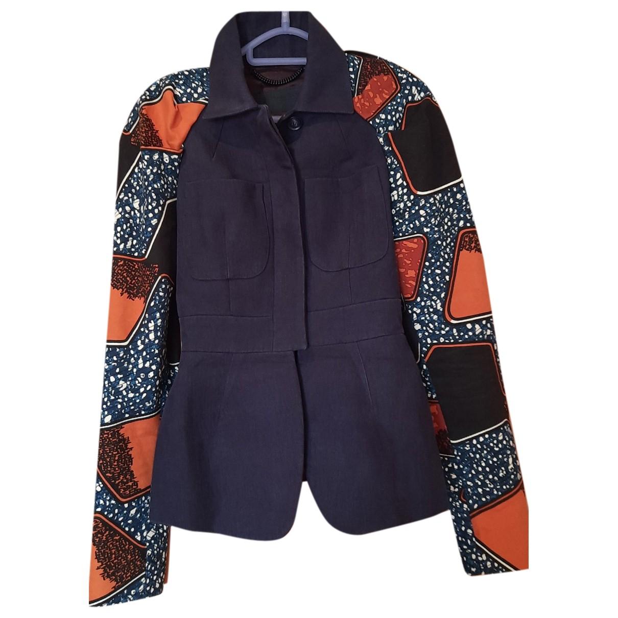 Burberry - Veste   pour femme en lin - multicolore