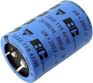 Vishay 220μF Electrolytic Capacitor 400V dc, Through Hole - MAL225966221E3 (100)