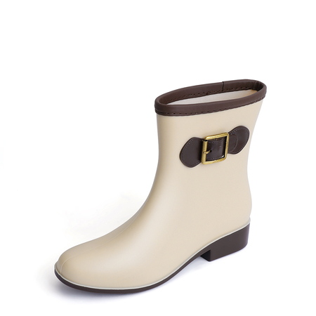 Yoins Khaki PVC Waterproof Antiskid Warm Boots