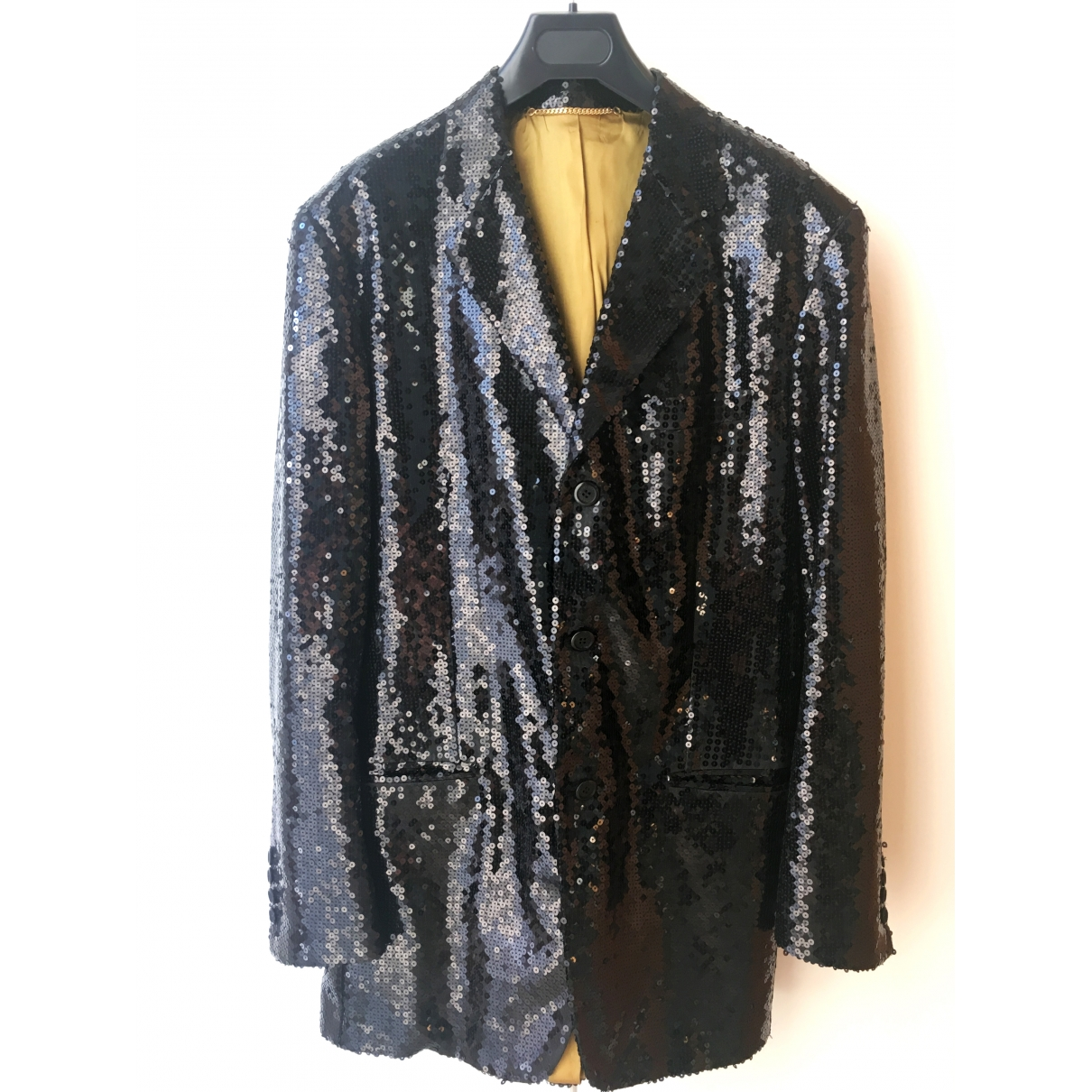 Moschino \N Black Glitter jacket  for Men 48 IT