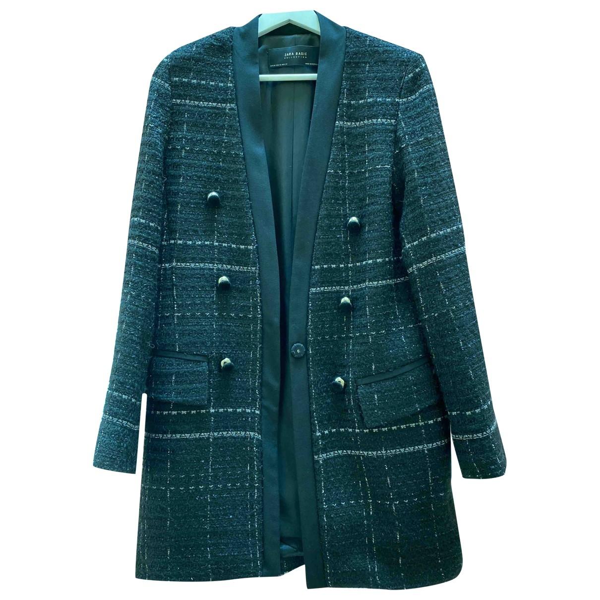 Zara \N Black Cotton coat for Women XS International