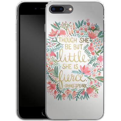 Apple iPhone 7 Plus Silikon Handyhuelle - Little But Fierce White von Cat Coquillette