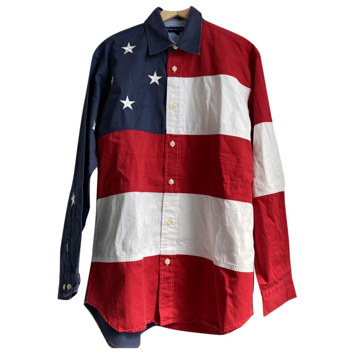 Tommy Hilfiger - Chemises   pour homme en coton - rouge