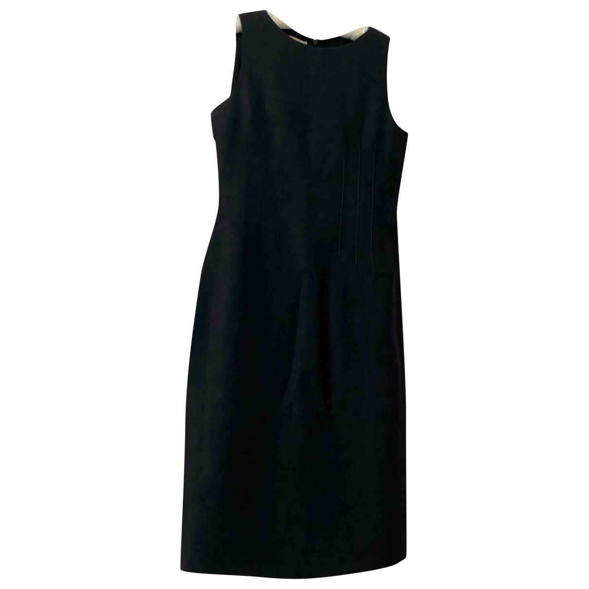 Emporio Armani \N Kleid in  Marine Leinen