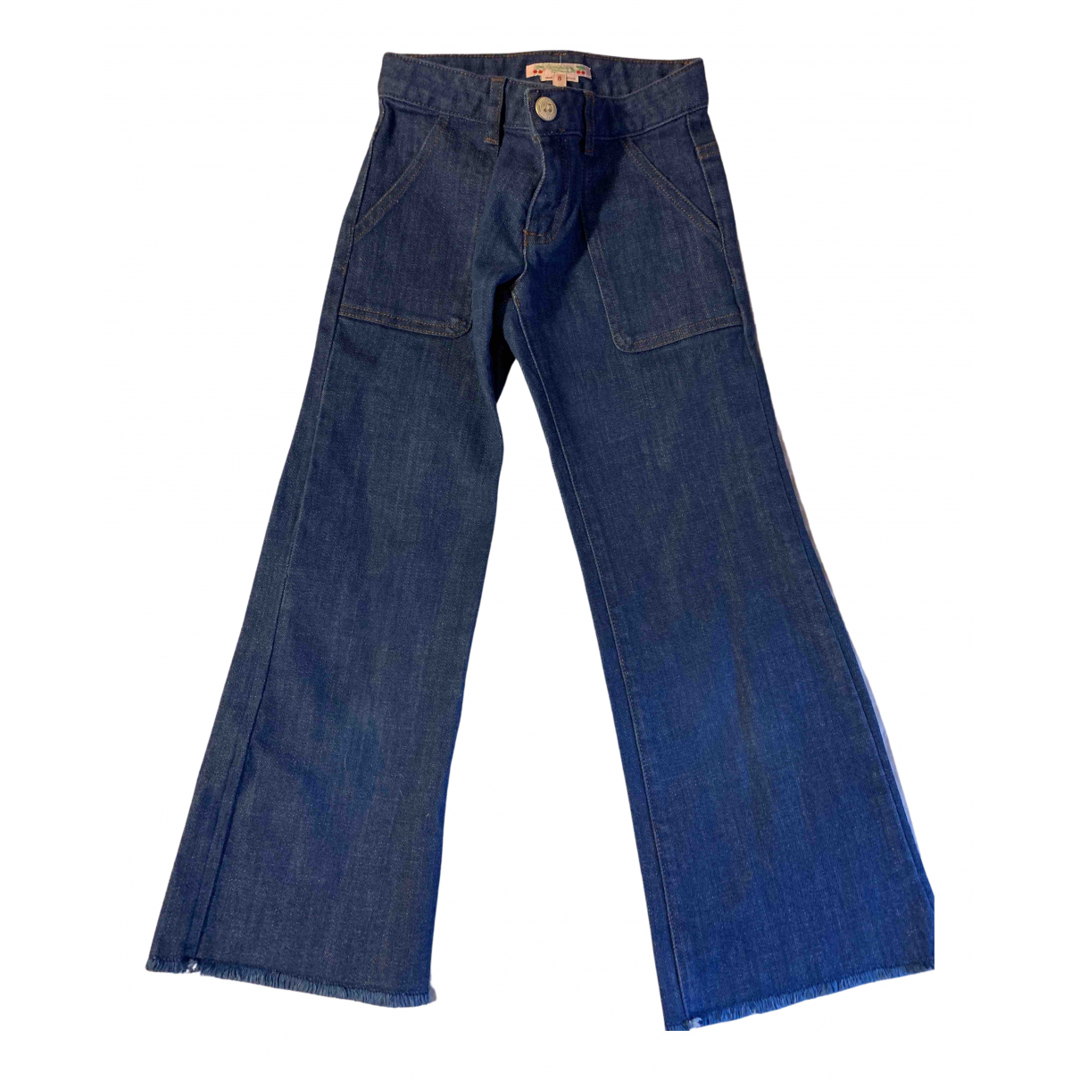 Bonpoint - Pantalon   pour enfant en denim - bleu