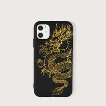 Funda de iphone con estampado de dragon chino