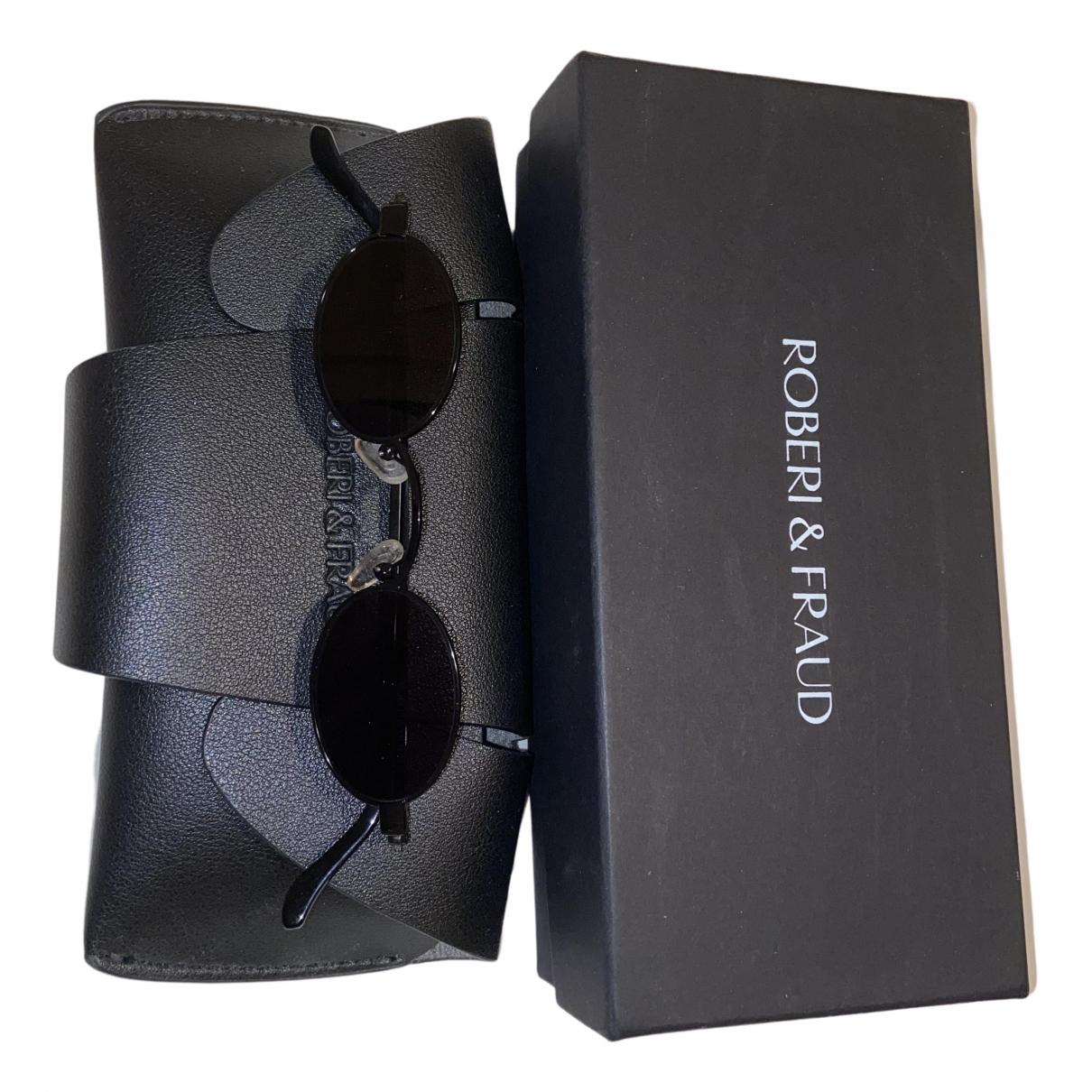 Roberi & Fraud \N Sonnenbrillen in  Schwarz Metall