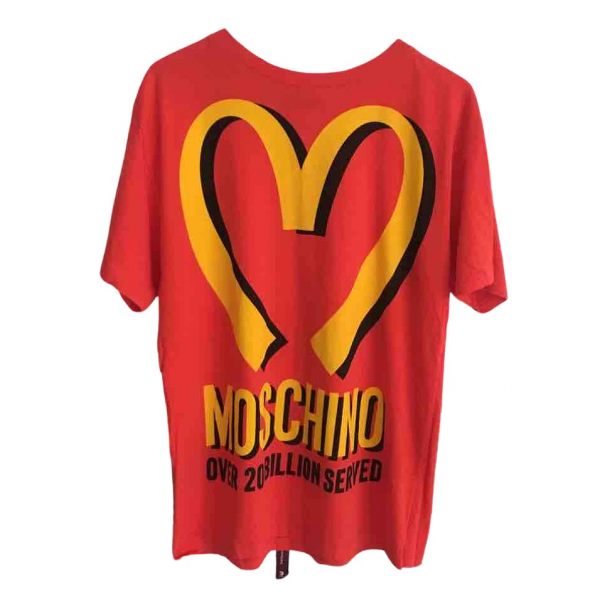 Moschino - Tee shirts   pour homme en coton - rouge