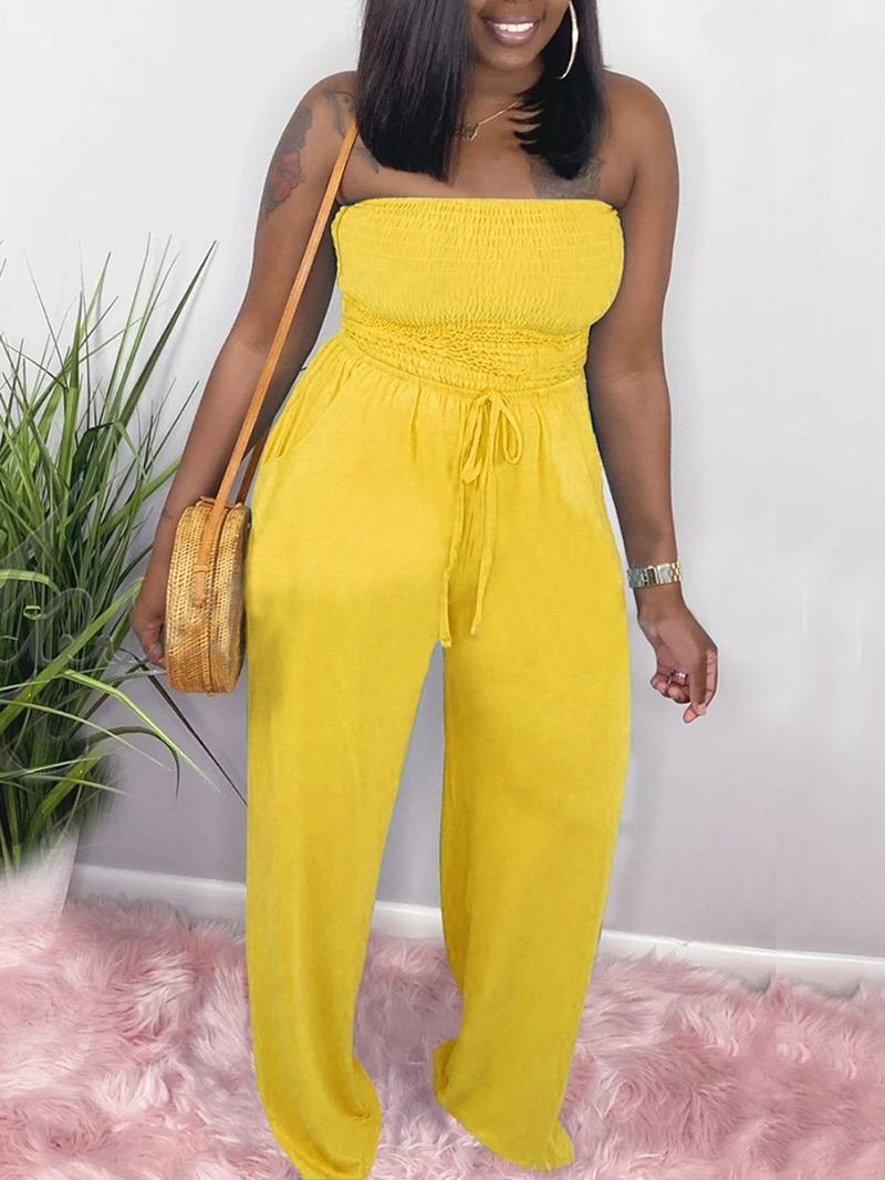 Ericdress Full Length Casual Slim Jumpsuit