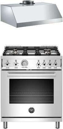 2 Piece Kitchen Appliance Package with PROF304GASXT 30