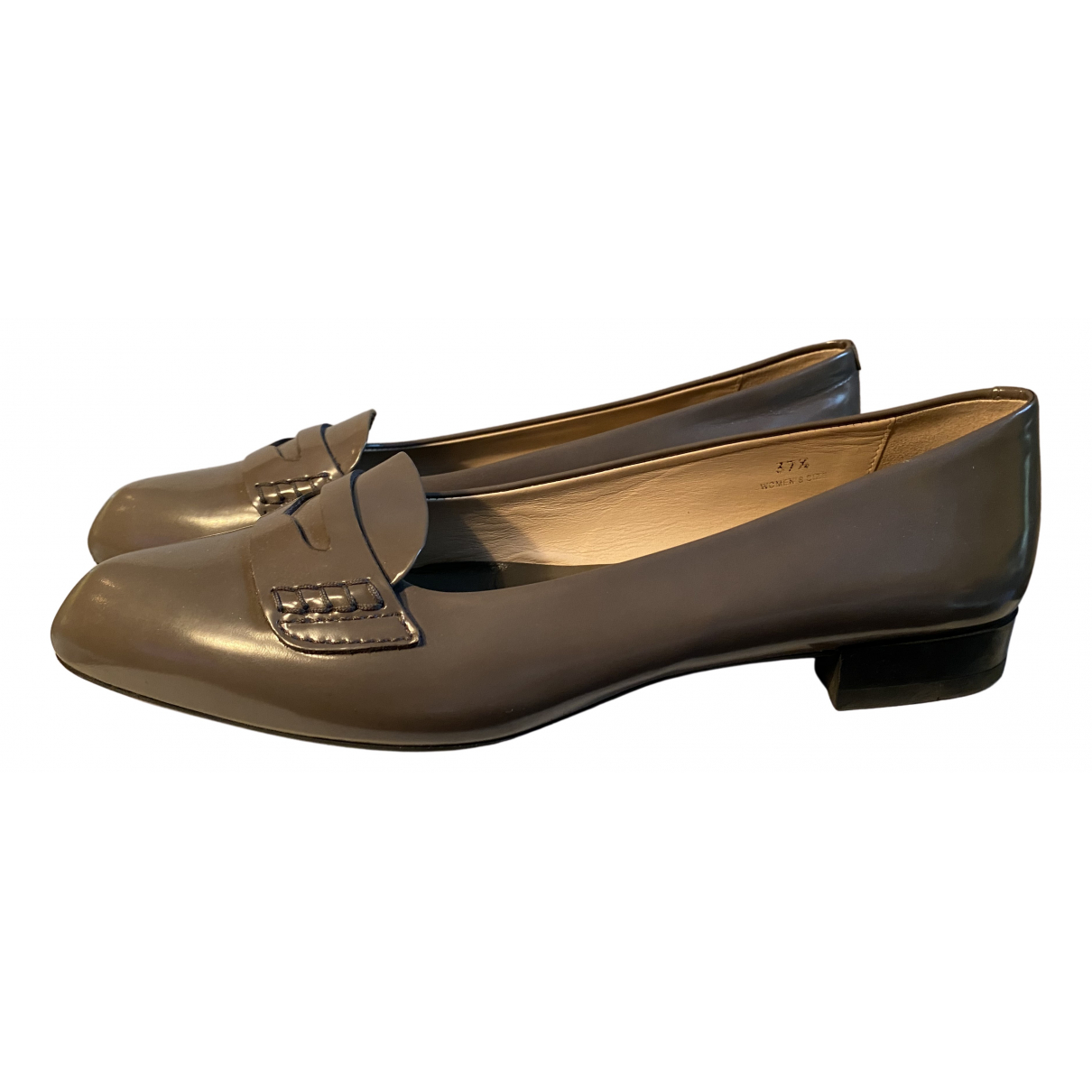 Tod's N Grey Patent leather Flats for Women 37.5 EU