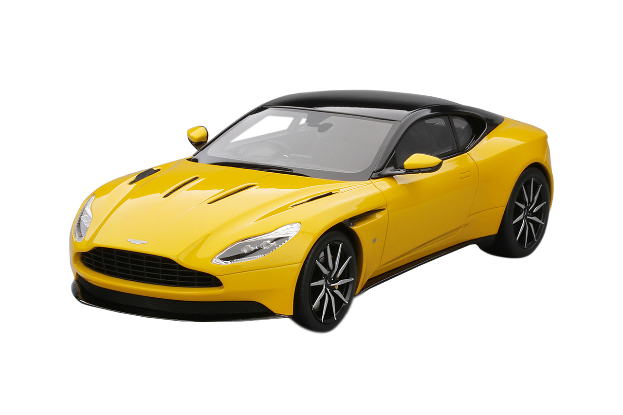 Aston Martin DB11 Sunburst Yellow with Black Top Limited Edition to 999 pieces Worldwide 1/18 Model Car by Top Speed
