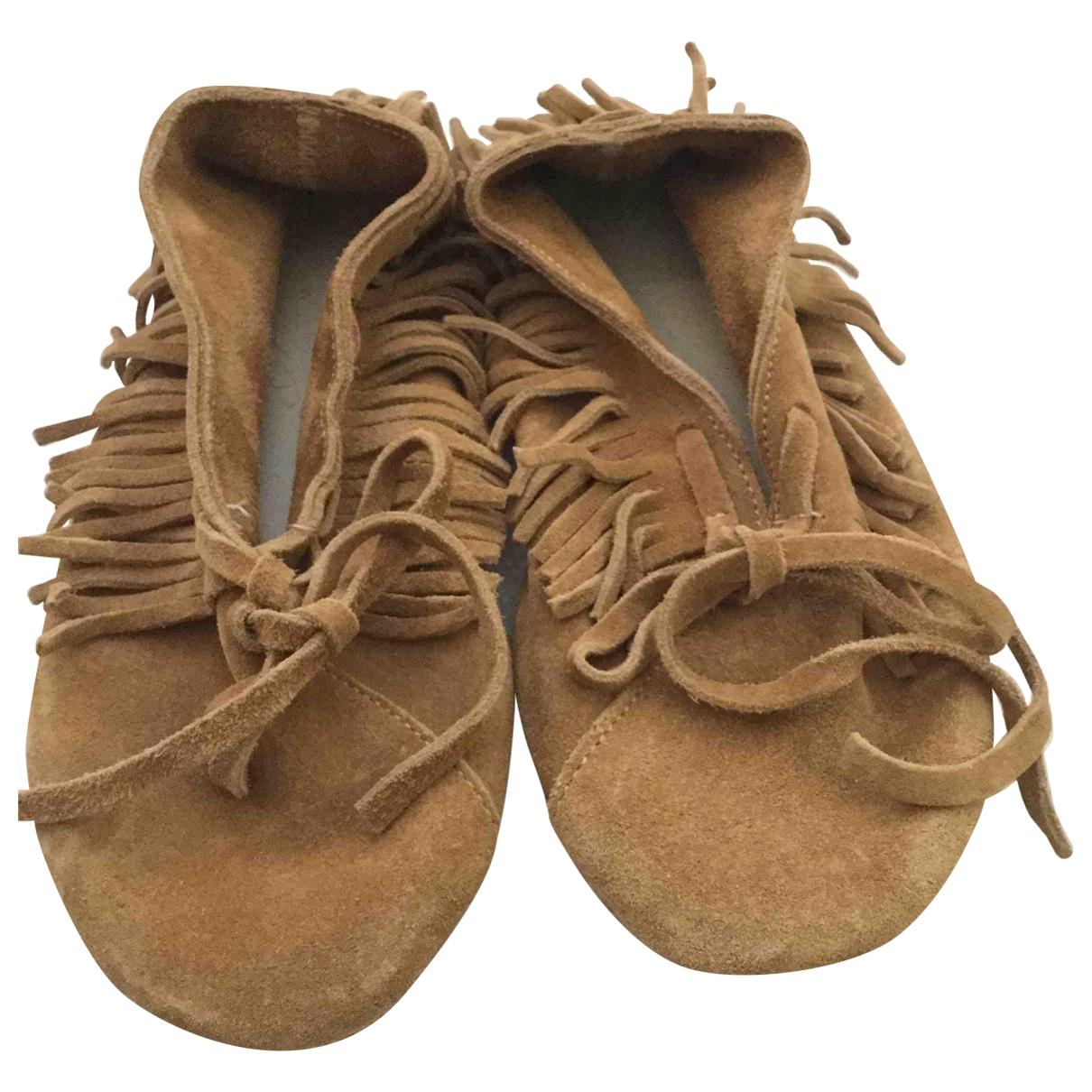 Anniel - Mocassins   pour enfant en cuir - beige