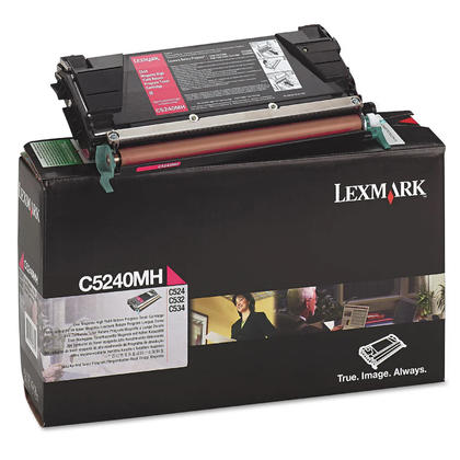 Lexmark C5240MH Original Magenta Return Program Toner Cartridge High Yield