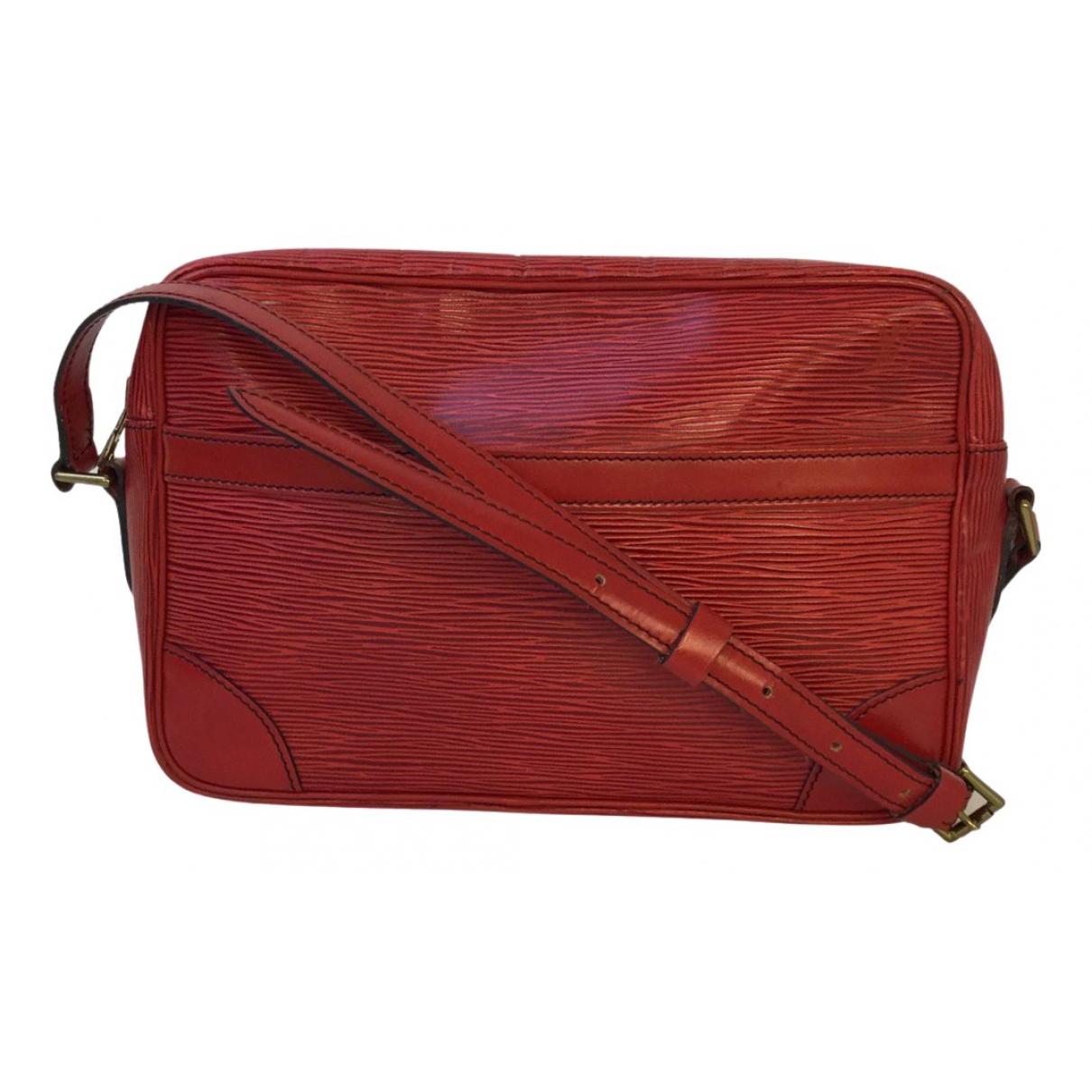 Louis Vuitton - Sac a main Trocadero pour femme en toile - rouge