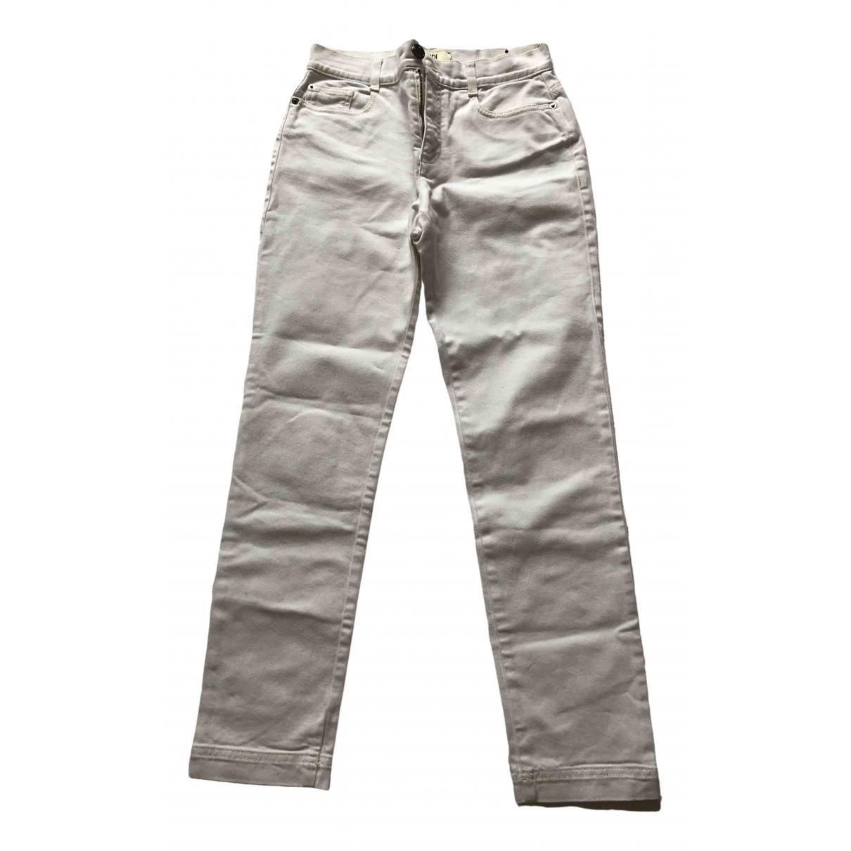 Fendi \N White Denim - Jeans Trousers for Women 38 FR