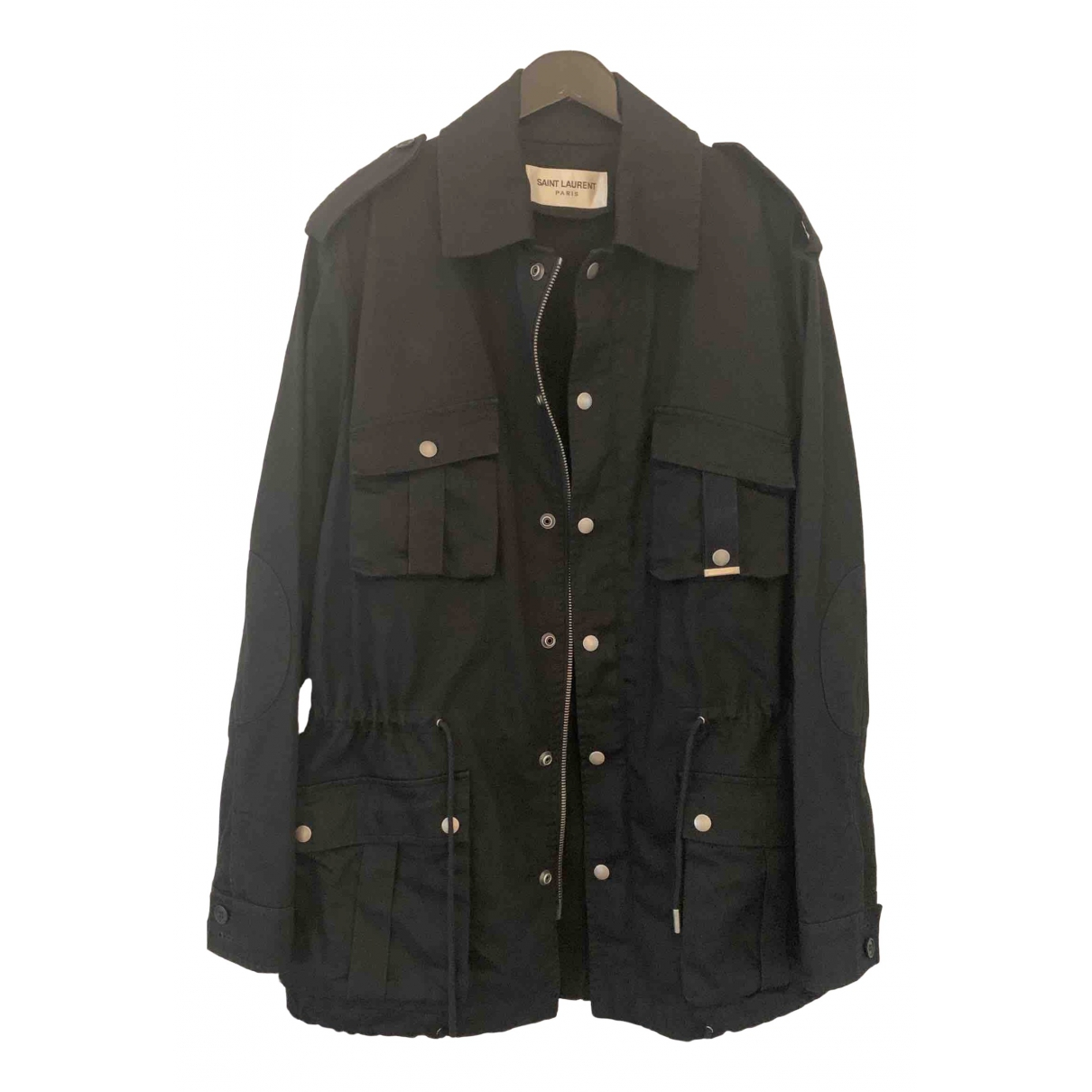 Saint Laurent \N Black Cotton jacket  for Men 44 IT