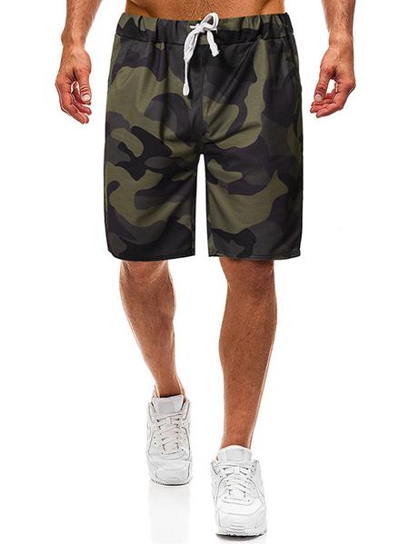 Yoins Men Summer Sports Camouflage Running Shorts Casual Jogger Shorts
