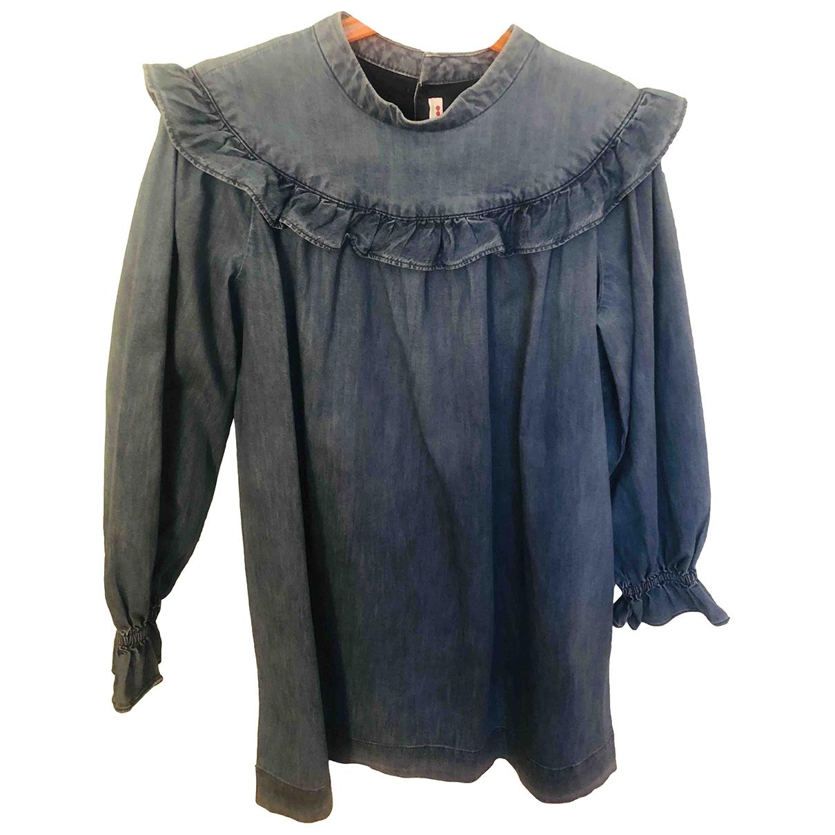 Bonpoint - Robe    pour enfant en denim - bleu