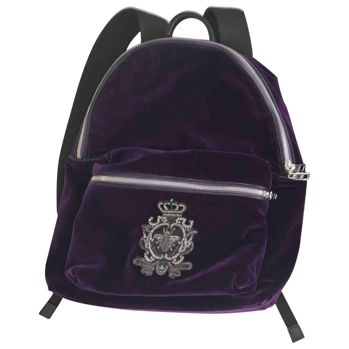 Dolce & Gabbana - Sac a dos   pour femme en velours - violet