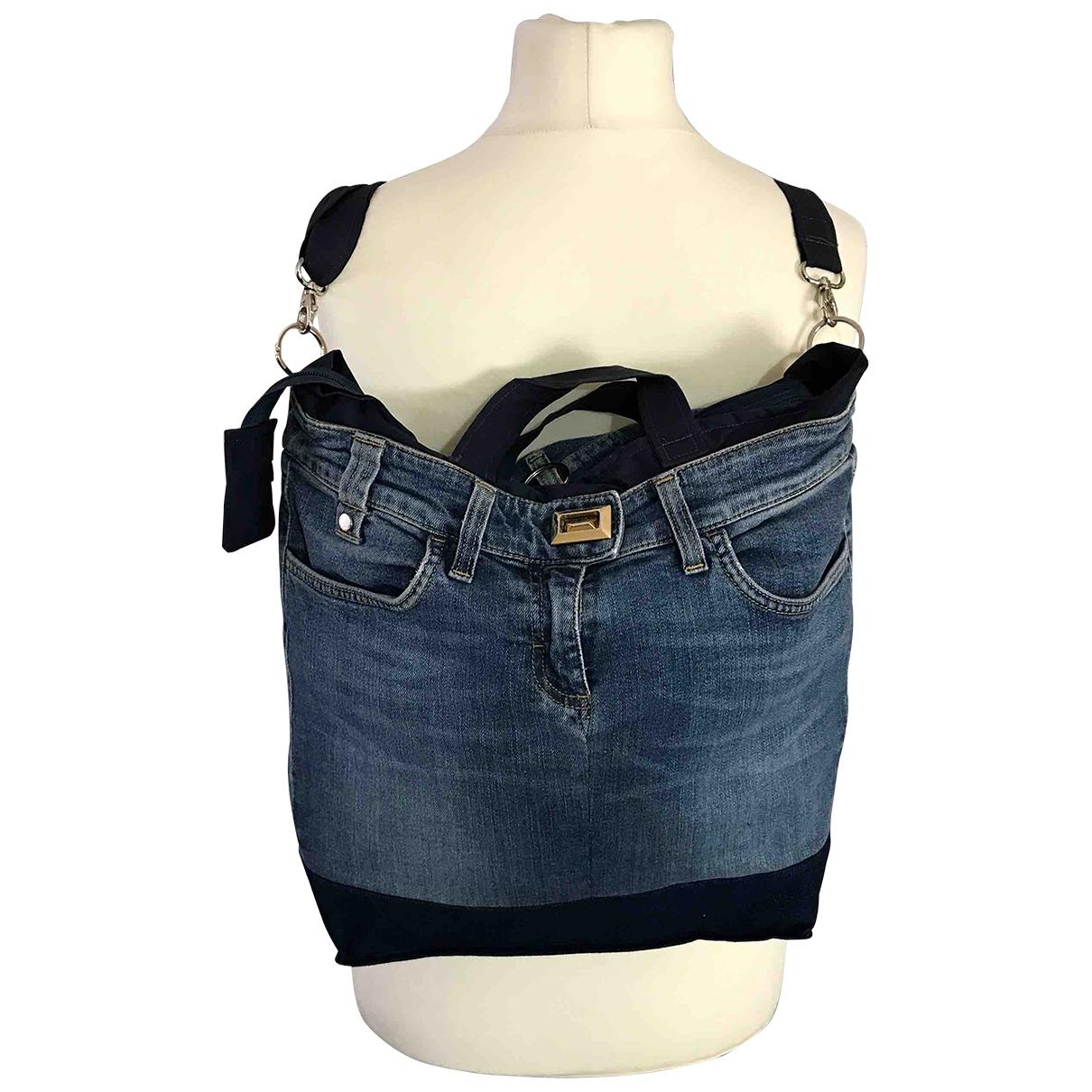 Elisabetta Franchi \N Denim - Jeans backpack for Women \N