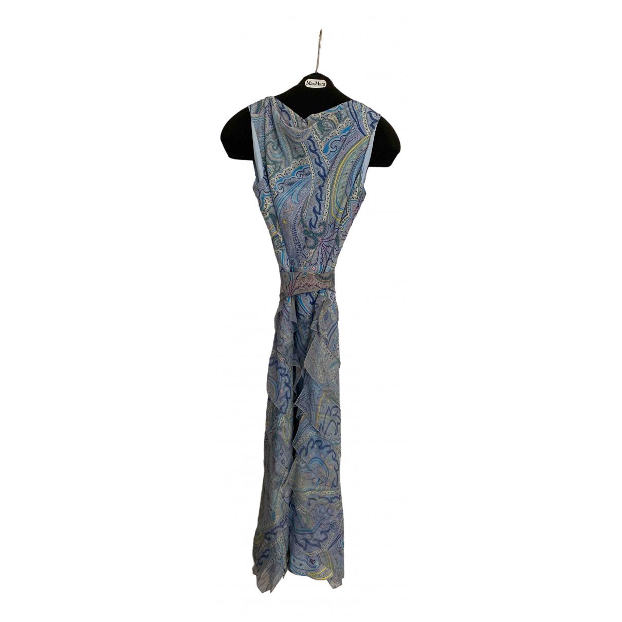 Max Mara \N Kleid in  Blau Seide
