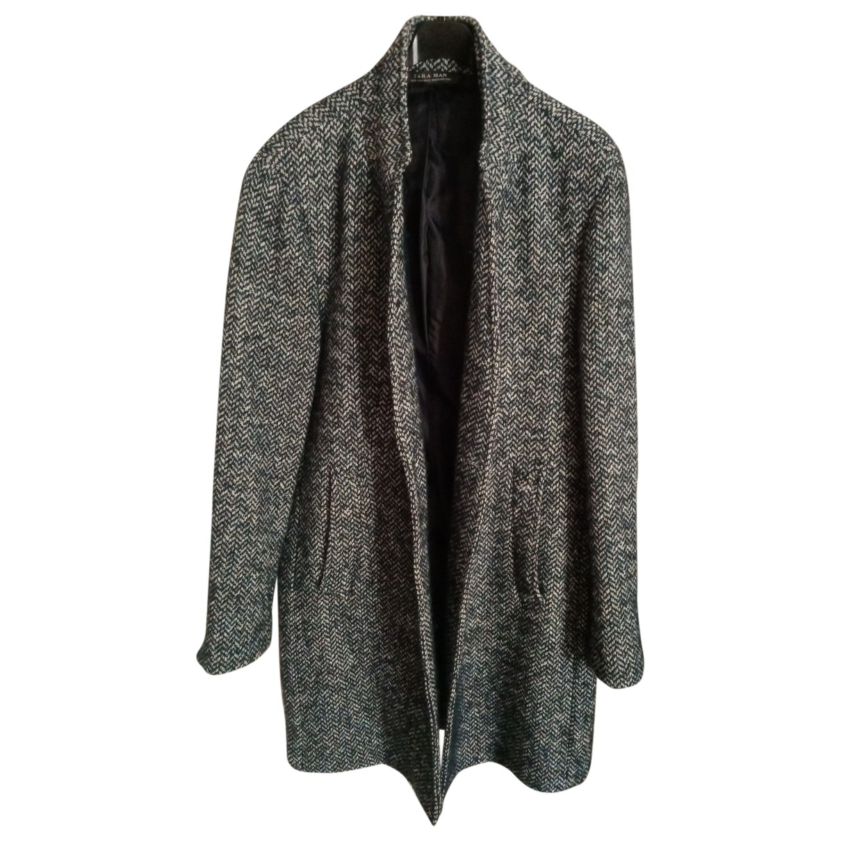 Zara \N Maentel in  Blau Polyester