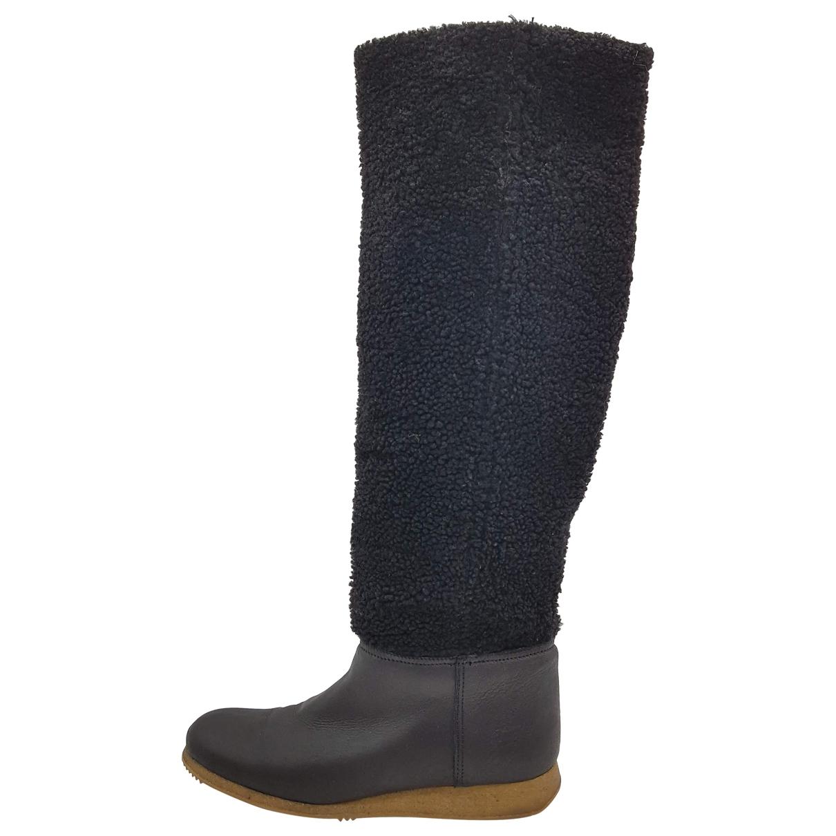 Carshoe - Bottes   pour femme en cuir - noir