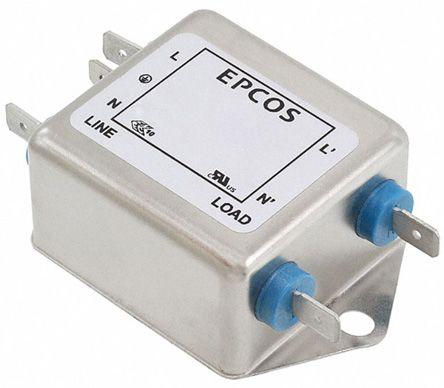 EPCOS , B84111F 20A 250 V ac/dc 60Hz, Flange Mount RFI Filter, Tab, Single Phase