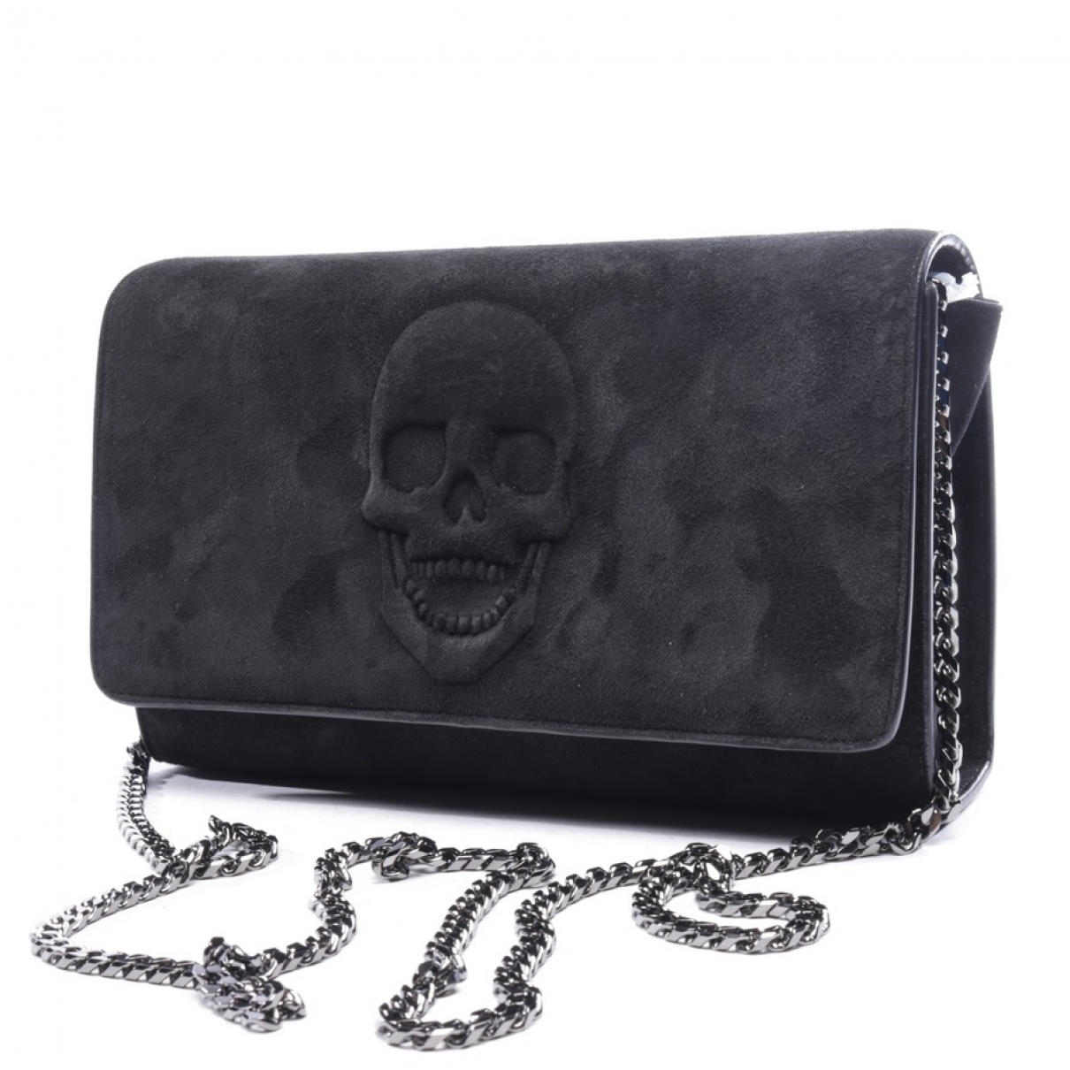 Philipp Plein \N Black Suede Clutch bag for Women \N