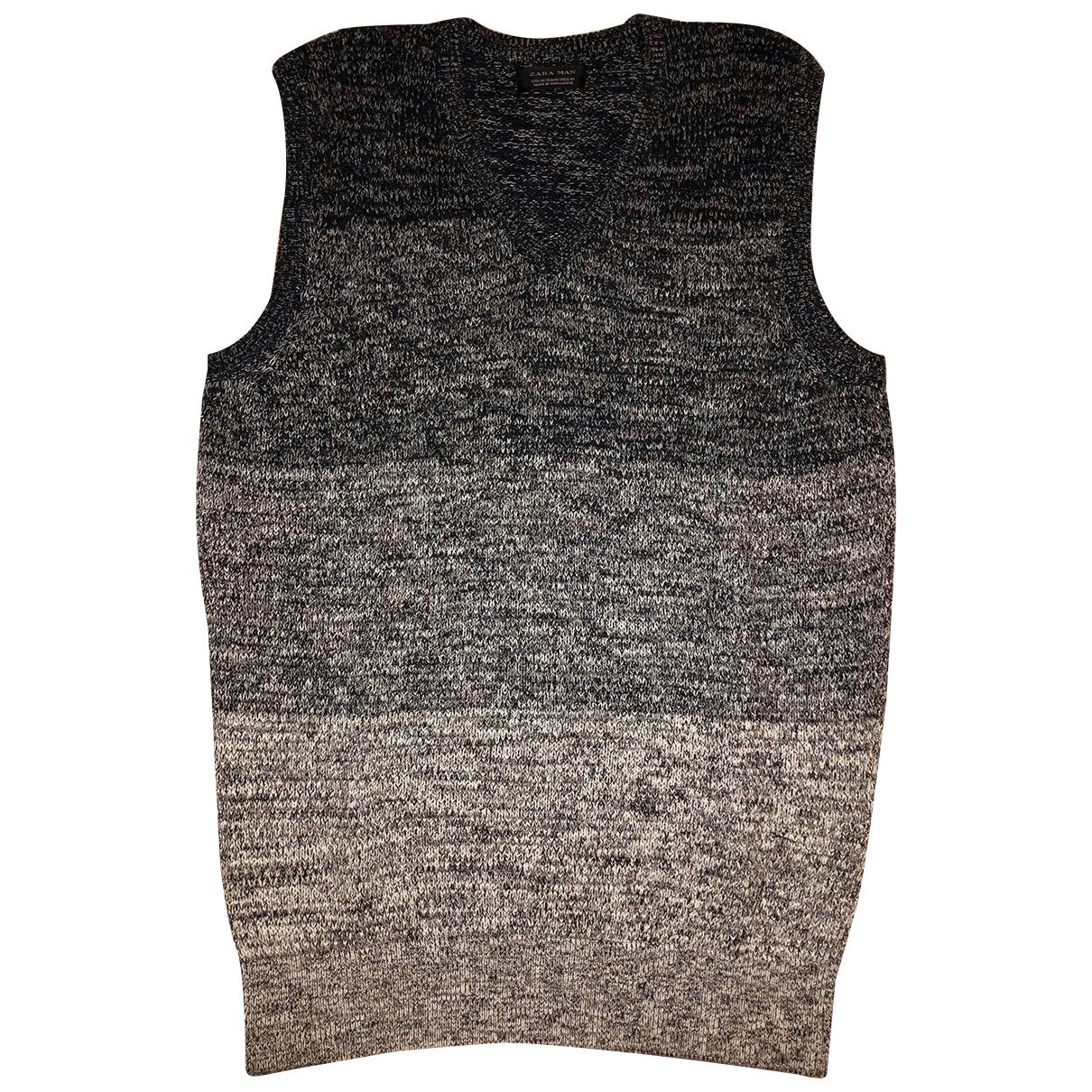 Zara \N Pullover.Westen.Sweatshirts  in  Blau Baumwolle