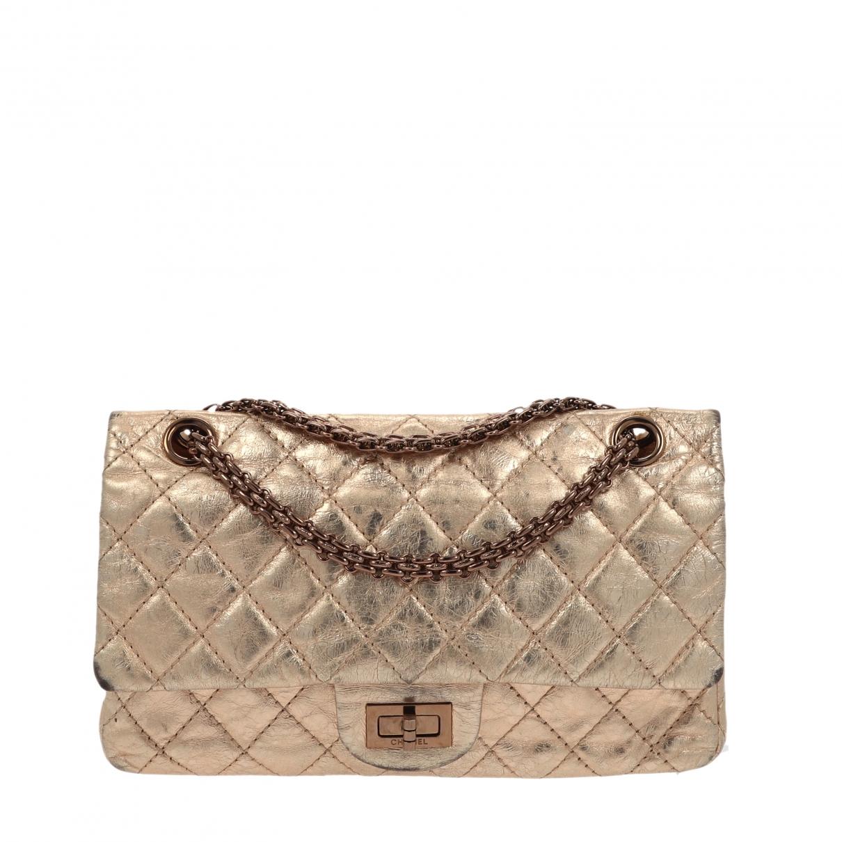 Chanel 2.55 Handtasche in  Metallic Leder